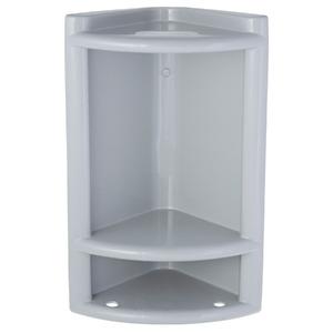 Porta Shampoo Canto Simples 40x25x16cm Cinza