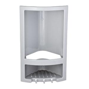 Porta Shampoo Canto Simples 38x23x14cm Cinza