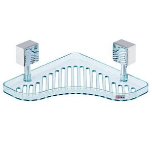 Porta Shampoo Canto Simples 8,50x22,50x22,50cm Verde