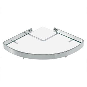 Porta Shampoo Canto Simples 1,50x20,50x20,50cm Prata
