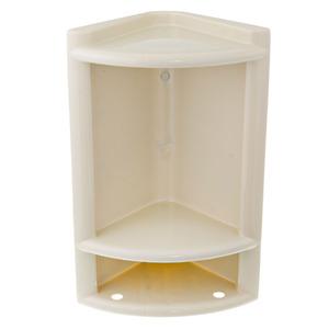 Porta Shampoo Canto Simples 40x25x16cm Marfim