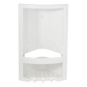 Porta Shampoo Canto Simples 38x23x14cm Marfim