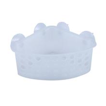 Porta Shampoo Canto Simples Ventosa Plástico Incolor 18x18x9cm Funky Sensea