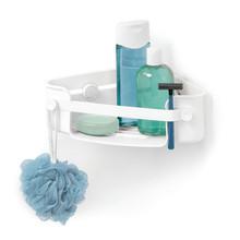 Porta Shampoo de Canto Simples Gel-Lock Plástico Branco 8.26x19.05x30.48cm Home Umbra