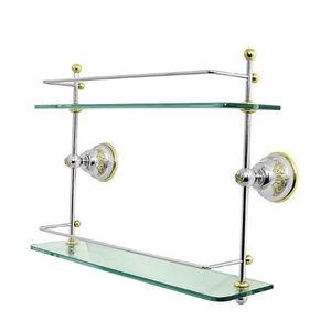 Porta Shampoo Reto Duplo 31,80x40x16cm Transparente
