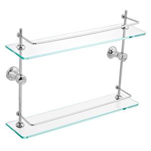 Porta Shampoo Reto Duplo 30,50x40x15,40cm Prata