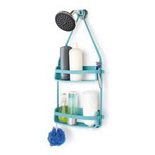 Porta Shampoo Reto Duplo Pendurar no Registro Plástico Azul 64.77x8.89x30.81cm Home Umbra