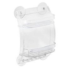 Porta Shampoo Reto Duplo 10,50x22x31cm Transparente