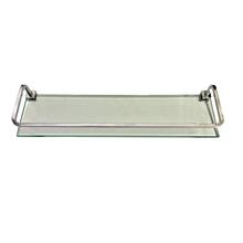 Porta Shampoo Reto Metal e Vidro Quadrata Hab