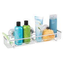 Porta Shampoo Reto Simlples Ventosa Metal Prata Turn-N-Lock Interdesign