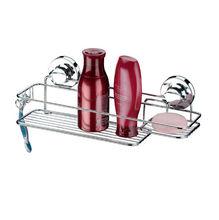 Porta Shampoo Reto Simples 13,5x40,5x12cm Prata