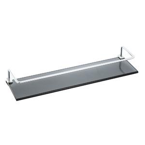 Porta Shampoo Reto Simples 6x10x10cm Fumê