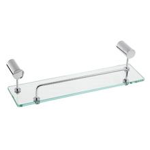 Porta Shampoo Reto Simples Atria 0,67x35x11 cm Prata