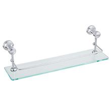 Porta Shampoo Reto Simples 12x40x15,40cm Prata