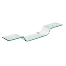 Porta Shampoo Reto Simples com Saboneteira Parafuso Cristal Incolor 60X10X0,8cm Fermar