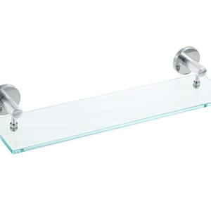 Porta Shampoo Reto Simples 8x60x16cm Prata