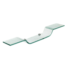 Porta Shampoo Reto Simples Parafuso Cristal Incolor 60X10X0,8cm Fermar