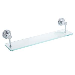 Porta Shampoo Reto Simples Futura 0,95x45x12 cm Prata