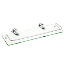 Porta Shampoo Reto Simples 5x43x15cm Prata