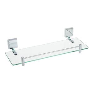 Porta Shampoo Reto Simples 10x40x20cm Prata