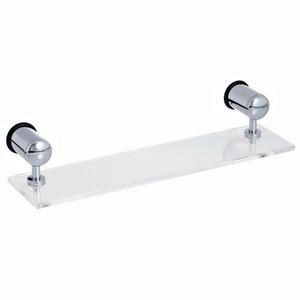 Porta Shampoo Reto Simples 8,50x40x10cm Transparente