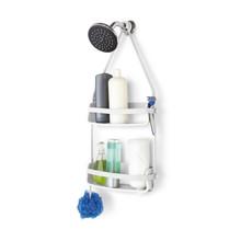Porta Shampoo Reto Simples Gel-Lock Plástico Branco 64.77x8.89x30.81cm Home Umbra