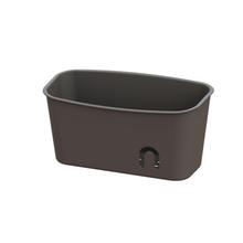 Porta Shampoo Reto Simples Ventosa Plástico Cinza 25x10x13cm Easy Sensea