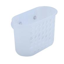 Porta Shampoo Reto Simples Ventosa Plástico Incolor 17,5x9x12,5cm Funky Sensea