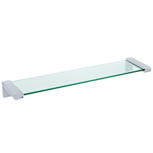 Porta Shampoo Reto Simples 5,8x54x13 Prata e Incolor