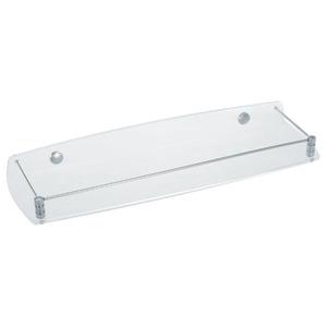 Porta Shampoo Reto Simples 5x45x13cm Cristal