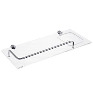 Porta Shampoo Reto Simples 3,50x33x15,50cm Cristal