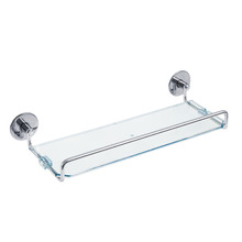 Porta Shampoo Reto Simples Silver 18x40x25 cm Prata