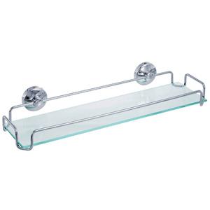 Porta Shampoo Reto Simples 7x40x10cm Prata