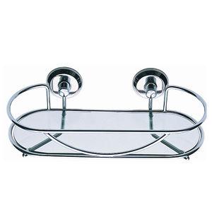 Porta Shampoo Reto Simples 5x6,10x13,20cm Prata