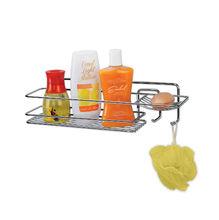 Porta Shampoo Simples  11x39x11 Prata