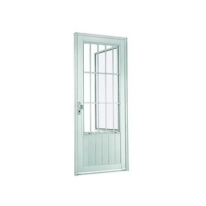 Porta social de abrir 217x88x8 cm Esquerdo Natural acetinado em Aluminium Sasazaki