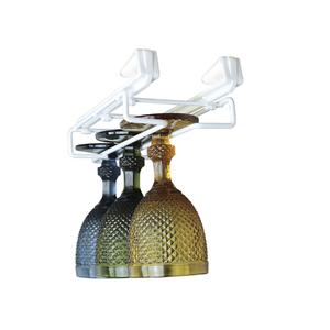 Porta Taças Ajustável 10,5x3x30cm Branco Space Savers Metaltru