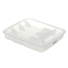 Porta Talher Plástico 5 divisórias Branco 5,5x30,5x34,6cm Sanremo Casar