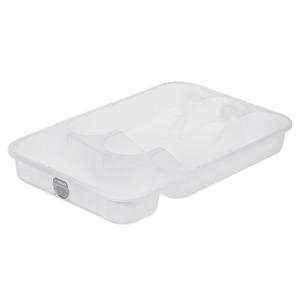 Porta Talher Sobre Pia Plástico Branco Plasútil