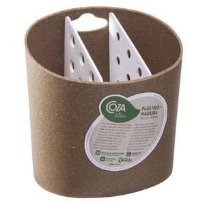Porta Talheres Plástico com 3 Divisórias Eco 14x14x11cm Brinox