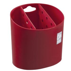 Porta Talheres Plástico Vermelho Brinox
