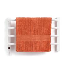 Porta Toalha Aquecido Banho Simples Metal Branco Barra 220V Flape