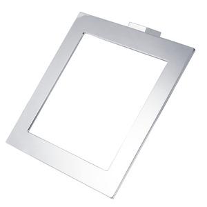 Porta Toalha Banho Argola Touch 23x23x7,50cm Prata