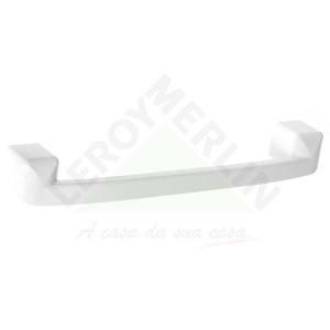 Porta Toalha Banho Parede Barra Plástico Branco Primafer