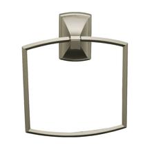 Porta Toalha Rosto  Metal Argola Savoy Prata