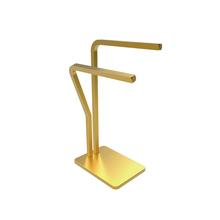 Porta Toalha Rosto Bancada Metal Gold