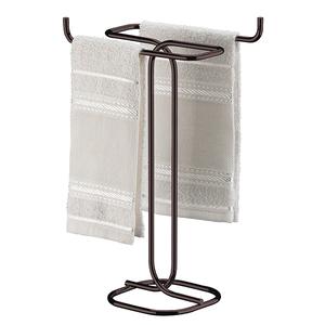 Porta Toalha Rosto de Bancada Barra Metal Cobre Future