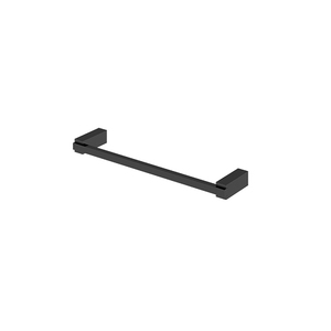 Porta Toalha Rosto Simples Metal Preto Brilhante Quartzo BL140 Fani