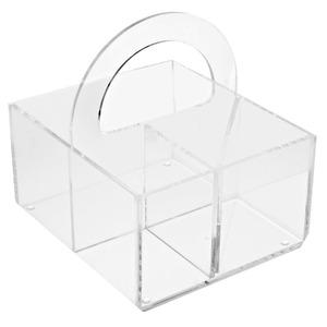 Porta Treco Acrílico Cristal 20X21X18 cm