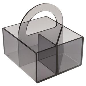 Porta Treco Acrílico Fumê 20X21X18 cm
